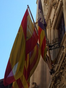 The 3 flags outside Palma's town hall