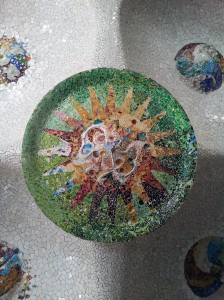 Gaudi's detail under Parc Guell