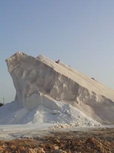 "salt ""iceberg"" at the salt works at Es Trenc"