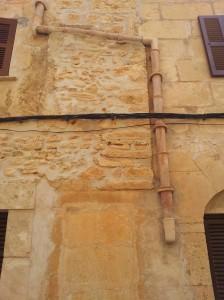 terracotta drains on the houses in Llucmajor